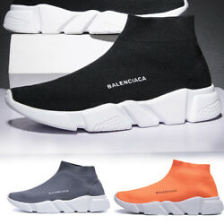 Mens Ultralight Fly-Knit Socks Shoes Sports Sneakers Elastic Breathable US Stock