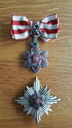 Croatia NDH Moslem Version Croatian Order of Merit Lady's 1st Class with star