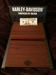 Harley Davidson Bulova Watch Retail Store Counter Display Man Cave She Shed
