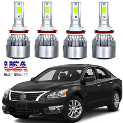 Combo LED Headlight Kit High & Low Beam Light Bulbs For Nissan Altima 2007-2018