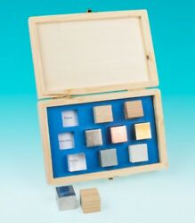 Flinn Scientific Density Cube Set of 10 in Wooden Storage Box 1