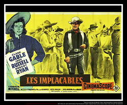 THE TALL MEN Clark Gable 5x8 ft Double French Grande Movie Poster Original 1955