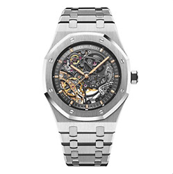 Audemars Piguet Mens Royal Oak Double Balance Wheel Stainless Steel Watch NEW