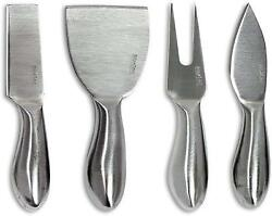 4 Pieces Set Cheese Knives Steel Stainless Cheese Slicer