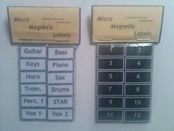 Magnetic Instrument & Vocal Labels for Sound Consoles Monitor Desks etc. $6.99
