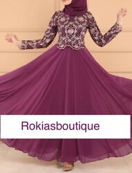 Newest Kaftan Farash Abaya Muslim Dress Maxi Women Dress Long sleeves Dubia $75.00