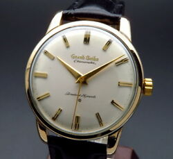 Seiko Grand Seiko J14070 Overhaul 1963 14K Manual Hand Wind Men's Watch Works