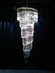 Vintage 175-Crystal Glass Chandelier