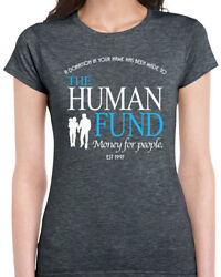 456 The Human Fund Womens T-shirt funny seinfeld george costanza money people