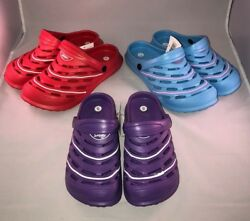 Women's Crocs New All Terrain Clog Red Blue Purple $10.99