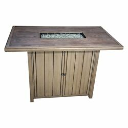 Paradise Cove Designs Basin 59 in. Bar-Height Fire Table