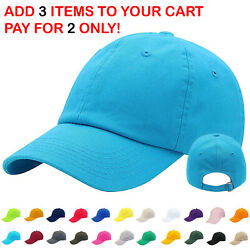 Mens Adjustable Cotton Baseball Caps Dad Hat Washed Ball Cap for Men and Women $7.95