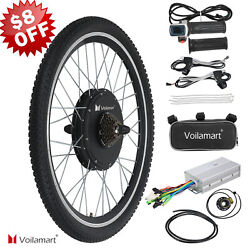 26quot; Electric Bike Rear Wheel Bicycle Conversion Kit Hub Motor Cycling 48V 1000W $188.49
