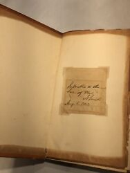 Abraham Lincoln Signed Note To Secretary Of War Stanton Dated August 6th 1862
