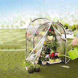 Super Greenhouses Mini With Clear Cover 2 Tier Portable Garden