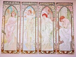 ALPHONSE MUCHA TIMES OF THE DAY Wooden Jigsaw Puzzle  $425.00