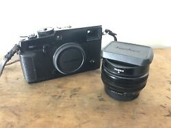 Fujifilm X series Pro2 Camera W Extras 35mm 18mm 60mm Hand Grip Batteries