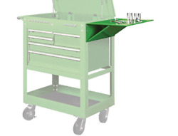 Folding Side Tray Green Tool Cart Storage Tools Supplies Auto Shop Garage