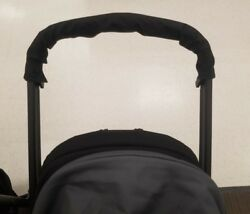 Black Red Fabric Handlebar Cover for Safety 1st Baby Child Strollers Replacement