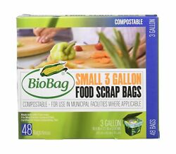 Bio Bag Compostable Small 3 Gallon Bags 48 Count by BioBag 1 Pack $17.99