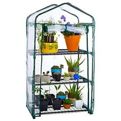 3-Tier Mini Greenhouse Greenhouses Portable Garden House Warm Clear PVC Cover
