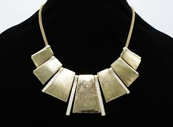 Gorgeous New Gold Tone Necklace with Simulated Diamond Dust NWT #N2237