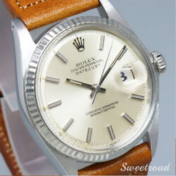 Rolex Datejust Ref.1601 Cal.1570 1970s WG Automatic Authentic Mens Watch Works