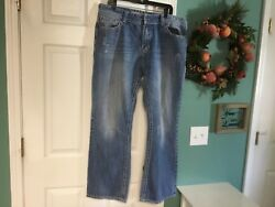 MEN'S ROCK & ROLL COWBOY RELAXED BOOTCUT JEANS SIZE 40 X 32 MOD1612 (CON21)