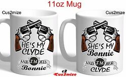 She's My Bonnie And Clyde Novelty Coffee Matching Couple Mug Christmas Gift Idea