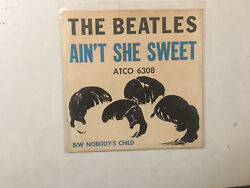 The Beatles 45 Picture Sleeve Atco 6308 Ain't She Sweet & Nobody's Child