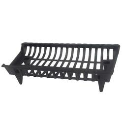 HeavyDuty CG27 27-in Cast Iron Fireplace Grate Elevate Firewood More Robust Fire