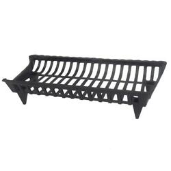 HeavyDuty CG30 30-in Cast Iron Fireplace Grate Elevate Firewood More Robust Fire