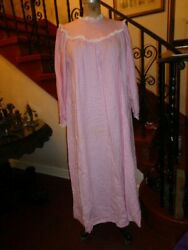 Vintage Lanz Of Salzburg Flannel Full Length Nightgown size S NWOT USA made