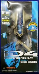 1996 Trendmasters ID4 Independence Day Alien Supreme Commander Figure
