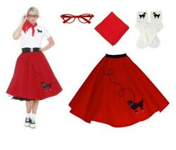 Poodle Skirt 1950#x27;s 3 Colors Adult Several Sizes $22.99