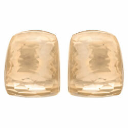 Roberto Coin Martellato Rock Crystal Huggie earrings in 18k rose gold