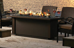 Kingsman 48 Inch Barbara Jean Collection Outdoor Gas Linear Fire Table