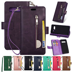 For Samsung Galaxy S10 Plus S10e Phone Case Cover Card Wallet Flip Leather Stand