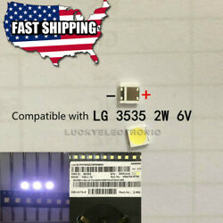 100PCS 3535 6V SMD LED Lamp Beads for LG LED Backlight Strip Repair $13.37