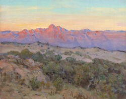 Butler Russell Howard Desert Sunrise Galiuro Mountains Arizona Print  #3625