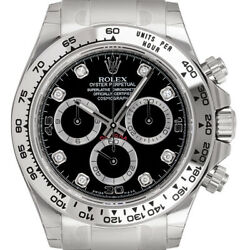 Rolex Daytona 18ct White Gold BlackDiamonds 116509
