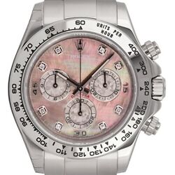 Rolex Daytona 18ct White Gold MOPDiamonds Dial 116509