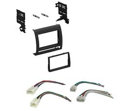 Car Radio Stereo Dash Install Kit with Harness Combo for 2005-2011 Toyota Tacoma