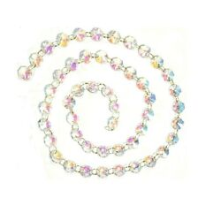 1 Yard AB Iridescent Chandelier Crystals Garland Prisms Ring Connectors $13.99