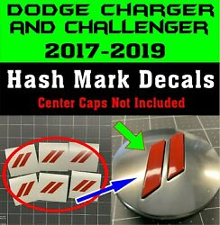 Custom Center Cap Overlay Decals Fits Dodge Charger and Challenge 2017 2018 2019 $9.95