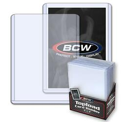 Pack 25 BCW Hard Plastic Baseball Trading Card Topload Holders 12 mil protector $8.95