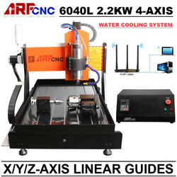 CNC 6040L 2.2KW 4Axis Engraving Machine with Water Cooling System