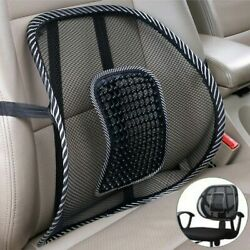 Cool Vent Cushion Mesh Back Lumbar Support Office Home Car Seat Chair Truck Seat