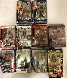 Enormous WWE Elite Figure Lot. Many Very Rare Not In Store Elites. Make An Offer