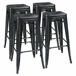 Modern High Backless Stackable Bar Stools Chairs for Indoor amp; Outdoor 30#x27;#x27; 4ct $133.99